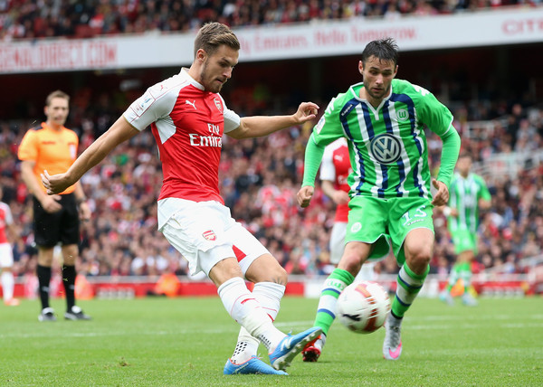 Aaron Ramsey vs VFL Wolfsburg (Source: David Rogers/Getty Images Europe)